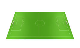 Layout football field Stock Photo
