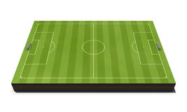 Layout football field isolated on white Royalty Free Stock Images
