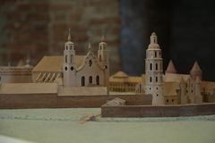 The model of the castle in the Vilnius Stock Photos