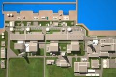 Layout of Fukushima nuclear plant Stock Image