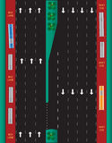 Layout of Highway road and bus lane  Landscape Stock Photo