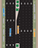 Layout of Highway road and bus lane  Landscape Royalty Free Stock Image
