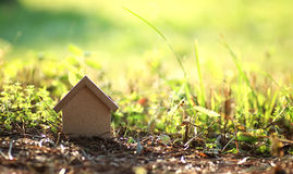 Layout of the house on the grass Royalty Free Stock Image