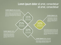 Layout Infographic template Royalty Free Stock Images