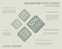 Layout Infographic template Stock Images