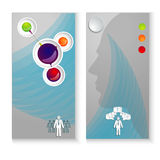 Layout leaflets with elements of infographics Royalty Free Stock Photos