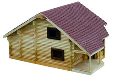 Layout of a log Chalet with shingle roof. Stock Photography