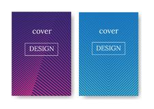 Layout for magazine or book cover royalty free illustration