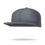 Layout of Male black rap cap.  illustration Stock Photos