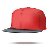Layout of Male color rap cap. A template simple example.  Illustration isolated on white background Royalty Free Stock Images