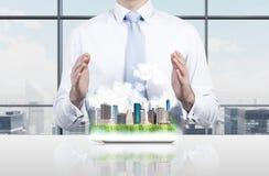 Layout modern city Stock Photo