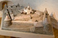 Layout of the monastery. SOLOVKI, REPUBLIC OF KARELIA, RUSSIA - JUNE 27, 2018: Layout of the monastery in the museum in the Spaso-Preobrazhensky Solovetsky royalty free stock photo