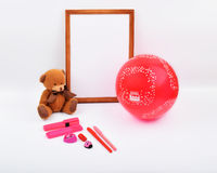Layout objects  on the topic - Valentine`s Day Stock Images