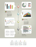 Layout page of business graph collection. Royalty Free Stock Photo