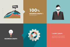 Layout page of business graph collection. Royalty Free Stock Image