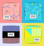 Layout pattern, abstract background. Stylish geometric Stock Images