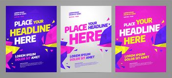 Layout poster template design for sport event. Tournament or championship stock illustration