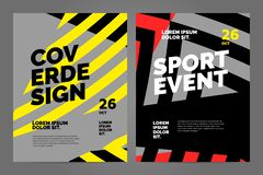 Layout poster template design for sport event. Tournament or championship