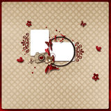 Layout in red and light brown colors. Beautiful layout in red and light brown colors Stock Photography