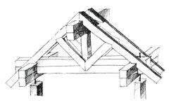 Layout of a roof constructional version Royalty Free Stock Photos