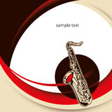 Layout with saxophone. Royalty Free Stock Photo