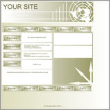 Layout site. Stock Image