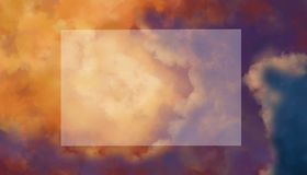 Layout sky and clouds. Opaque flat lay. royalty free stock photos