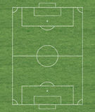 Soccer field layout Royalty Free Stock Photos