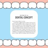 Layout Teeth and gum frame inside view cartoon style for info or Royalty Free Stock Images