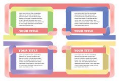 Layout Template for Business Presentation Stock Image