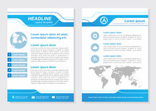 Layout template size A4 Front page and back page Blue Vector design vector illustration