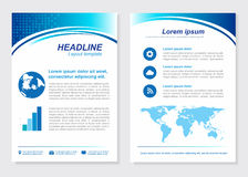 Layout template size A4 Front page and back page  Stock Images