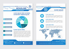 Layout template size A4 Front page and back page Line Circuit Vector design stock illustration