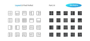 Layout UI Pixel Perfect Well-crafted Vector Thin Line And Solid Icons 30 2x Grid for Web Graphics and Apps. Simple Minimal Pictogram Part 2-6 Stock Image