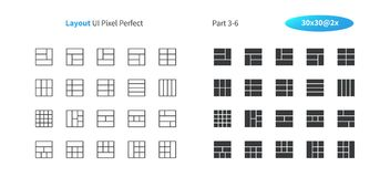 Layout UI Pixel Perfect Well-crafted Vector Thin Line And Solid Icons 30 2x Grid for Web Graphics and Apps. Simple Minimal Pictogram Part 3-6 Royalty Free Stock Photography