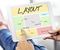 Layout Website Content Web Design Concept Royalty Free Stock Photography