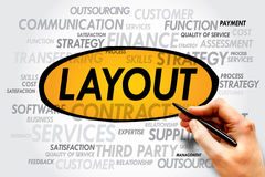 LAYOUT. Word cloud, business concept Stock Image
