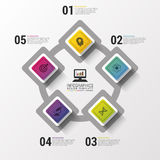 Layout for your options or steps. Modern design template. Infographics. Vector illustration Stock Image