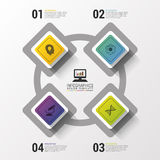 Layout for your options or steps. Modern design template. Infographics. Vector illustration Royalty Free Stock Photography