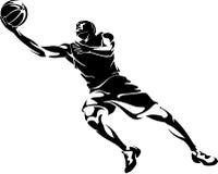 Layup abstrait de basket-ball Images libres de droits