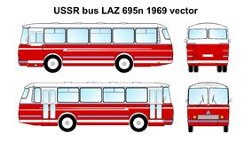 LAZ 695n 1969 vector Stock Photo