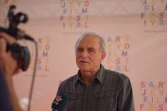 Lazar Ristovski na conferência de imprensa, festival de cinema de Sarajevo imagem de stock royalty free
