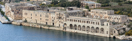 Lazaretto - Manoel Island. The Lazaretto on Manoel Island in Malta. Built in 1726, and famous for hosting Lord Byron in 1811, as well as Sir Walter Scott in 1831 Stock Photo