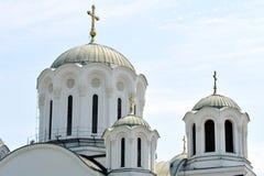 Orthodox church in Lazarevac, Serbia. LAZAREVAC, SERBIA - JUNE 4: Orthodox church in Lazarevac, on June 4 2015 in Lazarevac, Serbia Royalty Free Stock Image