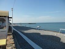 Lazarevskaya海滩,俄罗斯 库存图片