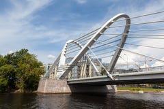 lazarevsky的桥梁 圣彼德堡 库存照片