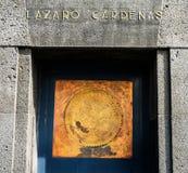Lazaro Cardenas 1910 Revolution Monument Mexico City Mexico. Mexico Seal 1910 Revolution Monument Mexico City Mexico. Built in 1932 with remains Revolutionary stock photos