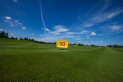 Lazer do active do campo do golfe Foto de Stock Royalty Free