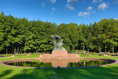 lazienki公园华沙 免版税库存图片