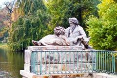 lazienki公园波兰皇家华沙 库存照片